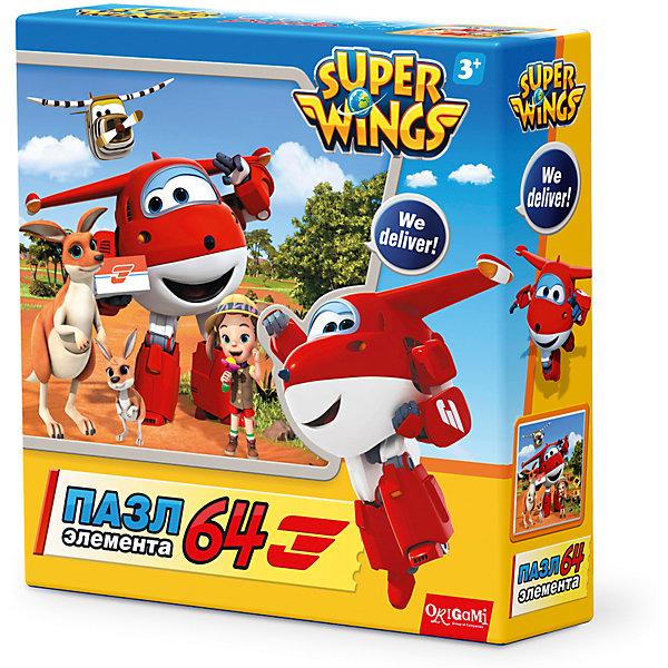 Пазл Приключение в России, Super Wings, OrigamiПазлы для малышей<br>Пазл Приключение в Австралии, Super Wings, Origami<br><br>Характеристики:<br><br>• Количество деталей: 64 шт.<br>• Размер упаковки: 15 * 4,5 * 15 см.<br>• Размер готовой картинки: 21 * 21 см.<br>• Состав: картон<br>• Вес: 100 г.<br>• Для детей в возрасте: от 3 до 6 лет<br>• Страна производитель: Россия<br><br>Лицензионный пазл с оригинальным дизайном соответствует высоким стандартам, которые подтверждены сертификатами качества. Пазл отлично собирается, некоторые части картинки повторяются по цвету, это сделает сборку немного сложнее и интереснее. Закончив сборку вы можете склеить кусочки превратив пазл в красивую картину, или можете разобрать его и снова собрать позже.<br><br>Пазл Приключение в Австралии, Super Wings, Origami можно купить в нашем интернет-магазине.<br><br>Ширина мм: 150<br>Глубина мм: 45<br>Высота мм: 150<br>Вес г: 100<br>Возраст от месяцев: 36<br>Возраст до месяцев: 72<br>Пол: Унисекс<br>Возраст: Детский<br>SKU: 5528437