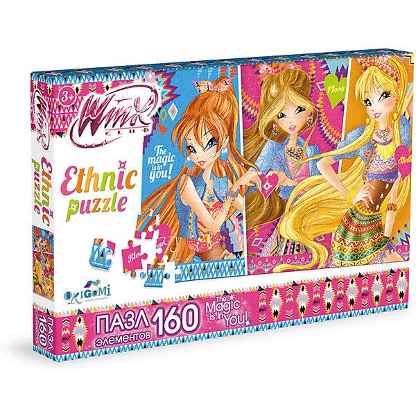 Пазл Волшебные мотивы, Winx Club, OrigamiПазлы для малышей<br>Пазл Волшебные мотивы, Winx Club, Origami<br><br>Характеристики:<br><br>• Количество деталей: 160 шт.<br>• Размер упаковки: 26,5 * 3,5 * 17,5 см.<br>• Размер готовой картинки: 22 * 33 см.<br>• Состав: картон<br>• Вес: 120 г.<br>• Для детей в возрасте: от 3 до 6 лет<br>• Страна производитель: Россия<br><br>На картинке изображены любимые героини: Блум, Флора и Стелла в красивых этнических нарядах. Лицензионный пазл с оригинальным дизайном соответствует высоким стандартам, которые подтверждены сертификатами качества. Пазл отлично собирается, некоторые части картинки повторяются по цвету, это сделает сборку немного сложнее и интереснее. Закончив сборку вы можете склеить кусочки превратив пазл в красивую картину, или можете разобрать его и снова собрать позже.<br><br>Пазл Волшебные мотивы, Winx Club, Origami можно купить в нашем интернет-магазине.<br><br>Ширина мм: 265<br>Глубина мм: 35<br>Высота мм: 175<br>Вес г: 120<br>Возраст от месяцев: 36<br>Возраст до месяцев: 72<br>Пол: Унисекс<br>Возраст: Детский<br>SKU: 5528438