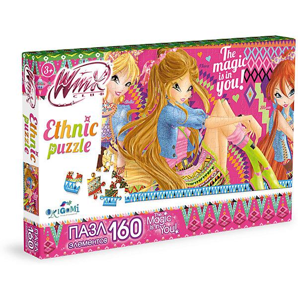 Пазл Яркие орнаменты, Winx Club, OrigamiПазлы для малышей<br>Пазл Яркие орнаменты, Winx Club, Origami<br><br>Характеристики:<br><br>• Количество деталей: 160 шт.<br>• Размер упаковки: 26,5 * 3,5 * 17,5 см.<br>• Размер готовой картинки: 22 * 33 см.<br>• Состав: картон<br>• Вес: 120 г.<br>• Для детей в возрасте: от 3 до 6 лет<br>• Страна производитель: Россия<br><br>На картинке изображены любимые героини: Блум, Флора и Стелла в красивых этнических нарядах. Лицензионный пазл с оригинальным дизайном соответствует высоким стандартам, которые подтверждены сертификатами качества. Пазл отлично собирается, некоторые части картинки повторяются по цвету, это сделает сборку немного сложнее и интереснее. Пазл подойдёт как уже знакомым с пазлами деткам, так и новичкам. Закончив сборку вы можете склеить кусочки превратив пазл в красивую картину, или можете разобрать его и снова собрать позже.<br><br>Пазл Яркие орнаменты, Winx Club, Origami можно купить в нашем интернет-магазине.<br><br>Ширина мм: 265<br>Глубина мм: 35<br>Высота мм: 175<br>Вес г: 120<br>Возраст от месяцев: 36<br>Возраст до месяцев: 72<br>Пол: Унисекс<br>Возраст: Детский<br>SKU: 5528441