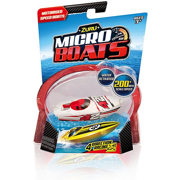 Роболодка, бело-красная, MICROBOATS, ZuruРоборыбки<br>Характеристики товара:<br><br>• возраст от 3 лет<br>• материал: пластик<br>• длина лодки 10 см<br>• тип батареек: 2 х AG13 / LR44 (миниатюрные)<br>• наличие батареек: входят в комплект<br>• размер упаковки 20х15х7,3 см<br>• вес упаковки 80 г.<br>• упаковка: блистер на картоне<br>• страна бренда: Новая Зеландия<br>• страна производитель: Китай<br><br>Роболодка Microboats Zuru бело-красная разнообразит купание малыша в ванной. При спуске лодки на воду срабатывает сенсорный датчик, и лодочка начинает плыть. Лодка умеет плавать в 4 разных направлениях, а при столкновении с препятствием начинает плыть назад. Малыш может брать лодку в собой не только в ванную, но и запускать ее в бассейне или водоеме, чтобы весело провести время. <br><br>Игрушка изготовлена из качественного безопасного пластика с использованием нетоксичных красителей. Работает от 2 батареек LR44 (в комплекте).<br><br>Роболодку Microboats Zuru можно приобрести в нашем интернет-магазине.<br><br>Ширина мм: 73<br>Глубина мм: 150<br>Высота мм: 200<br>Вес г: 80<br>Возраст от месяцев: 36<br>Возраст до месяцев: 2147483647<br>Пол: Унисекс<br>Возраст: Детский<br>SKU: 5528471