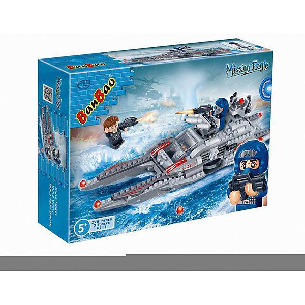 Конструктор Подводная лодка, 275 дет., BanBaoПластмассовые конструкторы<br>Характеристики:<br><br>• тип игрушки: конструктор;<br>• возраст: от 5 лет;<br>• количество деталей: 275 шт; <br>• размер: 24х33х7 см;<br>• бренд: BanBao;<br>• упаковка: картонная коробка;<br>• материал: пластик.<br><br>Конструктор «Пожарная машина» 275 дет., BanBao познакомит ребенка с интересным занятием. В набор входят элементы в количестве 275 штук, которые легко стыкуются между собой креплению. Детали сделаны из нетоксичного пластика и отличаются высокой прочностью и износоустойчивостью.<br><br>Собрав детали между собой, дети увидят подлодку, оснащенную пушками и прозрачной кабиной. Детали конструктора выполнены из цветного качественного пластика, который не содержит в составе вредных веществ и не вызовет аллергической реакции.<br><br>Занятия с конструктором развивают концентрацию внимания, усидчивость, логическое и пространственное мышление, а также совершенствуют моторику рук. Этот набор подойдет для детей от 5 лет и старше.<br><br>Конструктор «Пожарная машина» 275 дет., BanBao можно купить в нашем интернет-магазине.<br>Ширина мм: 330; Глубина мм: 240; Высота мм: 70; Вес г: 625; Возраст от месяцев: 60; Возраст до месяцев: 1188; Пол: Мужской; Возраст: Детский; SKU: 5528480;