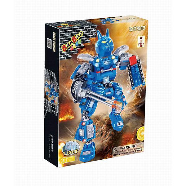Конструктор Робот, эл\мех. 213 дет.,  со световыми эффектами, BanBaoПластмассовые конструкторы<br>Характеристики:<br><br>• тип игрушки: конструктор;<br>• возраст: от 5 лет;<br>• количество деталей: 213 шт; <br>• размер: 33х24х7 см;<br>• бренд: BanBao;<br>• упаковка: картонная коробка;<br>• материал: пластик.<br><br>Конструктор «Робот» электромеханический с эффектами 213 дет., BanBao познакомит ребенка с интересным занятием. В набор входят элементы в количестве 213 штук, которые легко стыкуются между собой креплению. Детали сделаны из нетоксичного пластика и отличаются высокой прочностью и износоустойчивостью.<br><br>Следуя инструкции, ребенок соберет электромеханического робота, который имеет световые эффекты. Робот работает от батареек, но их нужно приобрести отдельно. Детали конструктора выполнены из цветного качественного пластика, который не содержит в составе вредных веществ и не вызовет аллергической реакции.<br>Занятия с конструктором развивают концентрацию внимания, усидчивость, логическое и пространственное мышление, а также совершенствуют моторику рук. Этот набор подойдет для детей от 5 лет и старше.<br><br>Конструктор «Робот» электромеханический с эффектами 213 дет., BanBao можно купить в нашем интернет-магазине.<br>Ширина мм: 330; Глубина мм: 240; Высота мм: 70; Вес г: 563; Возраст от месяцев: 60; Возраст до месяцев: 1188; Пол: Мужской; Возраст: Детский; SKU: 5528483;