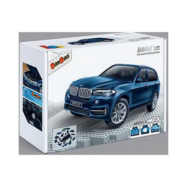 Конструктор Машина BMW X5, синий цвет, 1:28, BanBaoПластмассовые конструкторы<br>Характеристики:<br><br>• тип игрушки: конструктор;<br>• возраст: от 5 лет;<br>• количество деталей: 98 шт; <br>• размер: 28х19х6 см;<br>• бренд: BanBao;<br>• упаковка: картонная коробка;<br>• материал: пластик.<br><br>Конструктор «Машина BMW X5» синий, 1:28,  98 дет., BanBao познакомит ребенка с интересным занятием. В набор входят элементы в количестве 61 штук, которые легко стыкуются между собой креплению. Детали сделаны из нетоксичного пластика и отличаются высокой прочностью и износоустойчивостью.<br><br>Из многочисленных деталей конструктора ребёнок сможет собрать уменьшенную копию настоящего автомобиля BMW X5. Модель повторяет все внешние особенности реального прототипа и исполнена в масштабе 1:28.  Модель снабжена инерционным механизмом и функциональными колёсами, что позволяет ей перемещаться по поверхности. <br><br>Занятия с конструктором развивают концентрацию внимания, усидчивость, логическое и пространственное мышление, а также совершенствуют моторику рук. Этот набор подойдет для детей от 5 лет и старше.<br><br>Конструктор «Машина BMW X5» синий, 1:28,  98 дет., BanBao можно купить в нашем интернет-магазине.<br>Ширина мм: 265; Глубина мм: 185; Высота мм: 80; Вес г: 500; Возраст от месяцев: 60; Возраст до месяцев: 1188; Пол: Мужской; Возраст: Детский; SKU: 5528490;