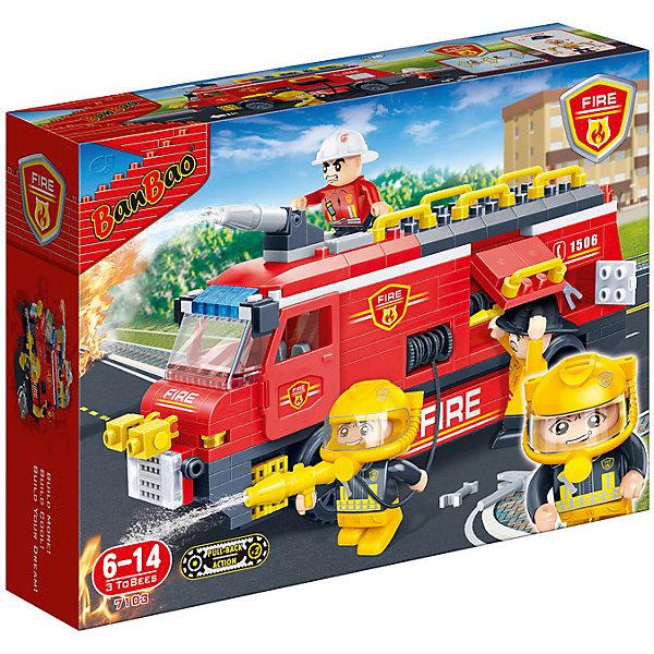 Купить Конструктор Пожарная машина, 288 дет., BanBao, Китай, Мужской