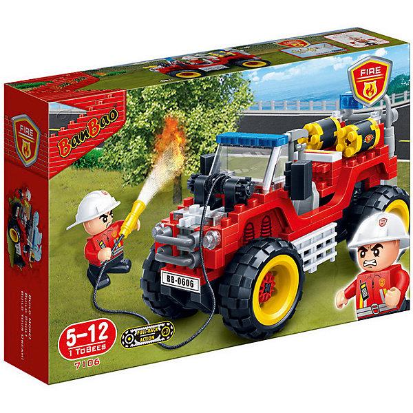 Конструктор Пожарный внедорожник, 212 дет., BanBaoПластмассовые конструкторы<br>Характеристики:<br><br>• тип игрушки: конструктор;<br>• возраст: от 5 лет;<br>• количество деталей: 212 шт; <br>• размер: 28x19x5,6 см;<br>• бренд: BanBao;<br>• упаковка: картонная коробка;<br>• материал: пластик.<br><br>Конструктор «Пожарный внедорожник», 212 дет., BanBao познакомит ребенка с интересным занятием. В набор входят элементы в количестве 212 штук, которые легко стыкуются между собой креплению. Детали сделаны из нетоксичного пластика и отличаются высокой прочностью и износоустойчивостью.<br><br>Из многочисленных деталей конструктора ребёнок сможет собрать пожарную машину для увлекательного игрового сюжета. Автомобиль прекрасно детализирован, оснащён пожарным гидрантом со шлангом на катушке. В комплекте находится игровая фигурка пожарного, у него подвижные руки, в которые можно вложить игровые аксессуары. <br><br>Занятия с конструктором развивают концентрацию внимания, усидчивость, логическое и пространственное мышление, а также совершенствуют моторику рук. Этот набор подойдет для детей от 5 лет и старше.<br><br>Конструктор «Пожарный внедорожник», 212 дет., BanBao можно купить в нашем интернет-магазине.<br><br>Ширина мм: 280<br>Глубина мм: 190<br>Высота мм: 56<br>Вес г: 454<br>Возраст от месяцев: 60<br>Возраст до месяцев: 1188<br>Пол: Мужской<br>Возраст: Детский<br>SKU: 5528512