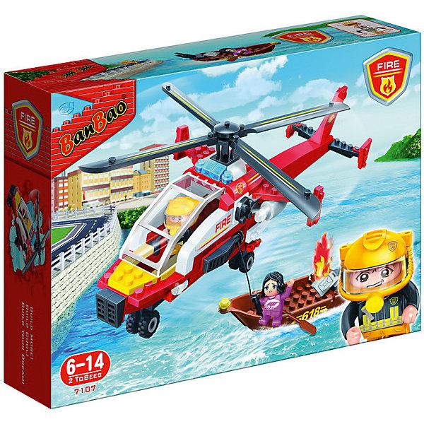 Конструктор Пожарный вертолет, 191 дет., BanBaoПластмассовые конструкторы<br>Характеристики:<br><br>• тип игрушки: конструктор;<br>• возраст: от 6 лет;<br>• количество деталей: 191шт;<br>•комплект: детали для сборки, 2 мини-фигурки, аксессуары;<br>• размер: 33x24x7 см;<br>• бренд: BanBao;<br>• упаковка: картонная коробка;<br>• материал: пластик.<br><br>Конструктор «Пожарный вертолет» 191 дет., BanBao  познакомит ребенка с опасной и востребованной профессией. В набор входят элементы в количестве 191 штуки, которые легко стыкуются между собой креплению. Детали сделаны из нетоксичного пластика и отличаются высокой прочностью и износоустойчивостью.<br><br>Модель вертолёта выполнена в реалистичной манере, подробно детализирована, оснащена функциональной лебёдкой. Элементы конструктора можно комбинировать с другими деталями данной серии и создавать их них тематические композиции для увлекательных игровых сюжетов.<br><br>Занятия с конструктором развивают концентрацию внимания, усидчивость, логическое и пространственное мышление, а также совершенствуют моторику рук. Этот набор подойдет для детей от 6 лет и старше.<br><br>Конструктор «Пожарный вертолет» 191 дет., BanBao  можно купить в нашем интернет-магазине.<br><br>Ширина мм: 330<br>Глубина мм: 240<br>Высота мм: 70<br>Вес г: 638<br>Возраст от месяцев: 60<br>Возраст до месяцев: 1188<br>Пол: Мужской<br>Возраст: Детский<br>SKU: 5528513