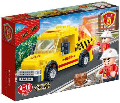 Конструктор Пожарная машина, 105 дет., BanBao
