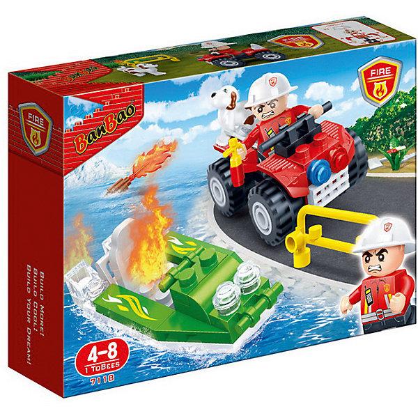 Конструктор Пожарный джип, 62 дет., BanBaoПластмассовые конструкторы<br>Характеристики:<br><br>• тип игрушки: конструктор;<br>• возраст: от 4 лет;<br>• количество деталей: 62 шт; <br>• размер: 19x14x4 см;<br>• бренд: BanBao;<br>• упаковка: картонная коробка;<br>• материал: пластик.<br><br>Конструктор «Пожарный джип», 62 дет., BanBao познакомит ребенка с интересным занятием. В набор входят элементы в количестве 62 штук, которые легко стыкуются между собой креплению. Детали сделаны из нетоксичного пластика и отличаются высокой прочностью и износоустойчивостью.<br><br>Из качественно обработанных и прочных деталей конструктора дети смогут создать пожарную машину - внедорожник. Модель автомобиля выполнена в реалистичной манере, подробно детализирована, оснащена функциональными колёсами. Набор дополнен миниатюрной фигуркой в специальном костюме и шлеме с подвижными руками, в которые можно закрепить игровые аксессуары.<br><br>Занятия с конструктором развивают концентрацию внимания, усидчивость, логическое и пространственное мышление, а также совершенствуют моторику рук. Этот набор подойдет для детей от 4 лет и старше.<br><br>Конструктор «Пожарный джип», 62 дет., BanBao можно купить в нашем интернет-магазине.<br>Ширина мм: 190; Глубина мм: 140; Высота мм: 40; Вес г: 250; Возраст от месяцев: 60; Возраст до месяцев: 1188; Пол: Мужской; Возраст: Детский; SKU: 5528518;