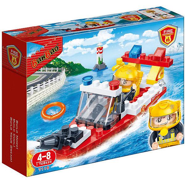 Купить Конструктор Пожарный катер, 62 дет., BanBao, Китай, Мужской