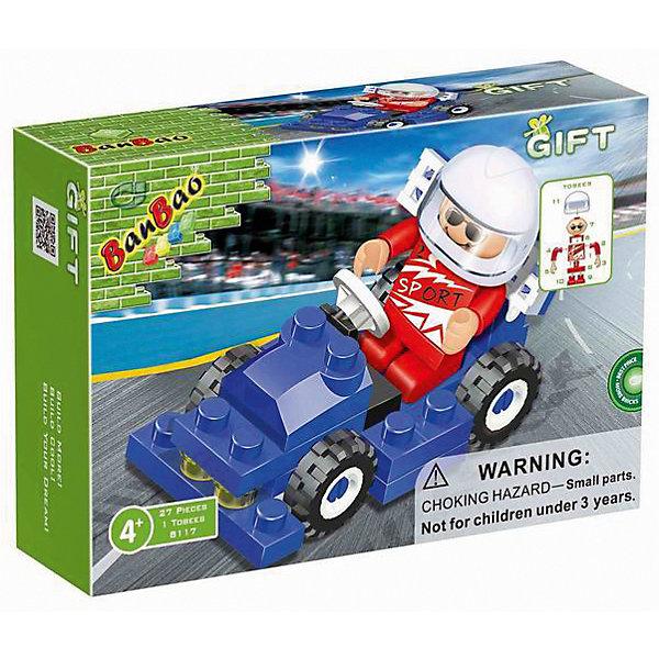 Конструктор Формула 1,синяя, 27 дет., BanBaoПластмассовые конструкторы<br>Характеристики:<br><br>• тип игрушки: конструктор;<br>• возраст: от 4 лет;<br>• количество деталей: 27 шт; <br>• размер: 13x3.5x9 см;<br>• бренд: BanBao;<br>• упаковка: картонная коробка;<br>• материал: пластик.<br><br>Конструктор «Формула 1», синяя, 27 дет., BanBao познакомит ребенка с интересным занятием. В набор входят элементы в количестве 27 штук, которые легко стыкуются между собой креплению. Детали сделаны из нетоксичного пластика и отличаются высокой прочностью и износоустойчивостью.<br><br>В получающейся при совмещении элементов синей машинке можно без труда узнать очертания стремительного гоночного болида из знаменитых на весь мир гонок. Фигурка пилота прилагается.<br><br>Занятия с конструктором развивают концентрацию внимания, усидчивость, логическое и пространственное мышление, а также совершенствуют моторику рук. Этот набор подойдет для детей от 4 лет и старше.<br><br>Конструктор «Формула 1», синяя, 27 дет., BanBao можно купить в нашем интернет-магазине.<br>Ширина мм: 130; Глубина мм: 90; Высота мм: 35; Вес г: 54; Возраст от месяцев: 60; Возраст до месяцев: 1188; Пол: Мужской; Возраст: Детский; SKU: 5528521;