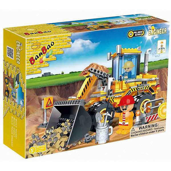 Конструктор Самосвал-ковш,голубая кабина, 250 дет., BanBaoПластмассовые конструкторы<br>Характеристики:<br><br>• возраст: от 5 лет;<br>• тип игрушки: конструктор;<br>• размер: 33x24x7 см;<br>• материал: пластик;<br>• бренд: BanBao;<br>• количество деталей: 250;<br>• упаковка: картонная коробка;<br>• страна производитель: Китай.<br><br>Конструктор «Самосвал-ковш» 250 дет., BanBao - тематический набор для игры всей семьей. Игрушка подходит для детей от пяти лет, в комплекте есть подборная инструкция по сборке. Но такое развлечение сблизит всех членов семьи и поможет разнообразить совместный досуг. Дети при этом станут более внимательными к деталям, улучшат мелкую моторику рук и разовьют образное мышление.<br><br>Набор состоит из 250 деталей, при помощи которых ребенок сможет собрать функциональный самосвал с ковшом, который может двигаться. В наборе есть две фигурки человечков. Колеса самосвала сделаны из мягкого пластика. <br><br>Для производства используются только высококачественные и безопасные красители, новейшие пресс-формы, поэтому каждый элемент конструктора имеет идеально гладкую поверхность, а цвета разнообразны и насыщены. Конструктор совместим с другими конструкторами BanBao  и Lego.<br><br>Конструктор «Самосвал-ковш» 250 дет., BanBao можно купить в нашем интернет-магазине.<br>Ширина мм: 330; Глубина мм: 240; Высота мм: 70; Вес г: 713; Возраст от месяцев: 60; Возраст до месяцев: 1188; Пол: Мужской; Возраст: Детский; SKU: 5528534;