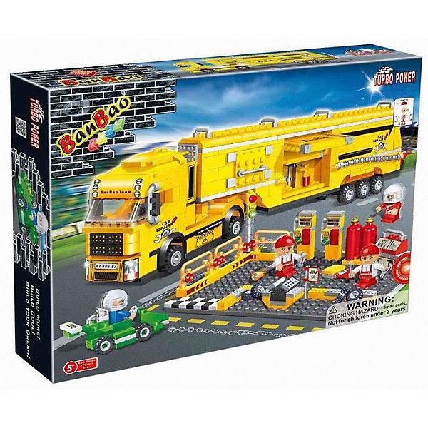 Конструктор Автосервис, 660 дет.,  от 5 лет, BanBaoПластмассовые конструкторы<br>Характеристики:<br><br>• тип игрушки: конструктор;<br>• возраст: от 5 лет;<br>• количество деталей: 660 шт; <br>• размер: 45х35х7 см;<br>• бренд: BanBao;<br>• упаковка: картонная коробка;<br>• материал: пластик.<br><br>Конструктор «Автосервис», 660 дет., BanBao познакомит ребенка с интересным занятием. В набор входят элементы в количестве 660  штук, которые легко стыкуются между собой креплению. Детали сделаны из нетоксичного пластика и отличаются высокой прочностью и износоустойчивостью.<br><br>Большой набор состоит из множества деталей, соединив которые по инструкции, ребенок сможет получить целый автосервис. В наборе есть детали и фигурки для того, чтобы разыграть интересный сюжет.<br><br>Занятия с конструктором развивают концентрацию внимания, усидчивость, логическое и пространственное мышление, а также совершенствуют моторику рук. Этот набор подойдет для детей от 5 лет и старше.<br><br>Конструктор «Автосервис», 660 дет., BanBao можно купить в нашем интернет-магазине.<br>Ширина мм: 450; Глубина мм: 350; Высота мм: 70; Вес г: 1425; Возраст от месяцев: 60; Возраст до месяцев: 1188; Пол: Мужской; Возраст: Детский; SKU: 5528546;
