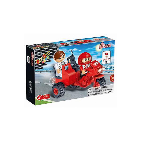 Конструктор 3-х колесный мотоцикл, 46 дет., BanBaoПластмассовые конструкторы<br>Характеристики:<br><br>• возраст: от 5 лет;<br>• тип игрушки: конструктор;<br>• размер: 16x10x3.5 см;<br>• материал: пластик;<br>• бренд: BanBao;<br>• количество деталей: 46;<br>• упаковка: картонная коробка;<br>• страна производитель: Китай.<br><br>Конструктор «Трехколесный мотоцикл» 46 дет., BanBao - тематический набор для игры всей семьей. Игрушка подходит для детей от пяти лет, в комплекте есть подборная инструкция по сборке. Но такое развлечение сблизит всех членов семьи и поможет разнообразить совместный досуг. Дети при этом станут более внимательными к деталям, улучшат мелкую моторику рук и разовьют образное мышление.<br><br>Набор состоит из пластиковых деталей для сборки и 2 мини-фигурок, с которыми можно играть. Получившееся транспортное средство является двухместным, поэтому обе игрушки возможно усадить внутрь. Готовый мотоцикл имеет вращающиеся колесики, поэтому с ним можно играть, как с обычной машинкой. Выполнен он в ярком-красном цвете. <br><br>Для производства используются только высококачественные и безопасные красители, новейшие пресс-формы, поэтому каждый элемент конструктора имеет идеально гладкую поверхность, а цвета разнообразны и насыщены. Конструктор совместим с другими конструкторами BanBao  и Lego.<br><br>Конструктор «Трехколесный мотоцикл» 46 дет., BanBao можно купить в нашем интернет-магазине.<br>Ширина мм: 160; Глубина мм: 100; Высота мм: 35; Вес г: 61; Возраст от месяцев: 60; Возраст до месяцев: 1188; Пол: Мужской; Возраст: Детский; SKU: 5528548;