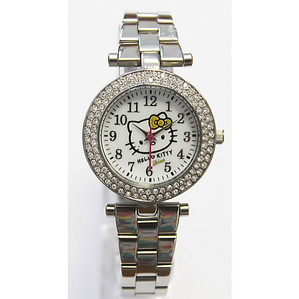 Часы наручные аналоговые, Hello KittyАксессуары<br>Эксклюзивные наручные аналоговые часы торговой марки Hello Kitty выполнены по индивидуальному дизайну ООО «Детское Время» и лицензии компании Sanrio. Обилие деталей - декоративных элементов (страз, мерцающих ремешков), надписей,  уникальных изображений - делают изделие тщательно продуманным творением мастеров. Часы имеют высококачественный японский кварцевый механизм и отличаются надежностью и точностью хода. Часы водоустойчивы и обладают достаточной герметичностью, чтобы спокойно перенести случайный и незначительный контакт с жидкостями (дождь, брызги), но они не предназначены для плавания или погружения в воду. Циферблат защищен от повреждений прочным минеральным стеклом. Корпус часов выполнен из стали,  задняя крышка из нержавеющей стали. Браслет часов металлический. Металлические ремешки отличаются прочностью и долговечностью. Единица товара упаковывается в стильную подарочную коробочку. Неповторимый стиль с изобилием насыщенных и в тоже время нежных гамм; надежность и прочность изделия позволяют говорить о нем только в превосходной степени!Размеры изделия: 1,5х0,5х12 (ДШВ), диаметр циф-та - 3,3 см, ширина – 0,9 см.<br>Ширина мм: 35; Глубина мм: 20; Высота мм: 140; Вес г: 75; Возраст от месяцев: 36; Возраст до месяцев: 72; Пол: Женский; Возраст: Детский; SKU: 5529322;
