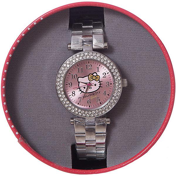 Часы наручные аналоговые, Hello KittyАксессуары<br>Эксклюзивные наручные аналоговые часы торговой марки Hello Kitty выполнены по индивидуальному дизайну ООО «Детское Время» и лицензии компании Sanrio. Обилие деталей - декоративных элементов (страз, мерцающих ремешков), надписей,  уникальных изображений - делают изделие тщательно продуманным творением мастеров. Часы имеют высококачественный японский кварцевый механизм и отличаются надежностью и точностью хода. Часы водоустойчивы и обладают достаточной герметичностью, чтобы спокойно перенести случайный и незначительный контакт с жидкостями (дождь, брызги), но они не предназначены для плавания или погружения в воду. Циферблат защищен от повреждений прочным минеральным стеклом. Корпус часов выполнен из стали,  задняя крышка из нержавеющей стали. Браслет часов металлический. Металлические ремешки отличаются прочностью и долговечностью. Единица товара упаковывается в стильную подарочную коробочку. Неповторимый стиль с изобилием насыщенных и в тоже время нежных гамм; надежность и прочность изделия позволяют говорить о нем только в превосходной степени!Размеры изделия: 1,5х0,5х12 (ДШВ), диаметр циф-та - 3,3 см, ширина – 0,9 см.<br>Ширина мм: 35; Глубина мм: 20; Высота мм: 140; Вес г: 75; Возраст от месяцев: 36; Возраст до месяцев: 72; Пол: Женский; Возраст: Детский; SKU: 5529323;