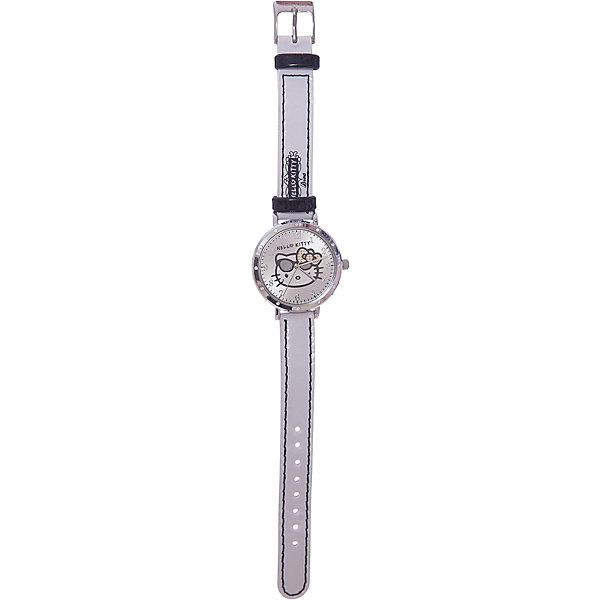 Часы наручные аналоговые, Hello KittyHello Kitty<br>Эксклюзивные наручные аналоговые часы торговой марки Hello Kitty выполнены по индивидуальному дизайну ООО «Детское Время» и лицензии компании Sanrio. Обилие деталей - декоративных элементов (страз, мерцающих ремешков), надписей,  уникальных изображений - делают изделие тщательно продуманным творением мастеров. Часы имеют высококачественный японский кварцевый механизм и отличаются надежностью и точностью хода. Часы водоустойчивы и обладают достаточной герметичностью, чтобы спокойно перенести случайный и незначительный контакт с жидкостями (дождь, брызги), но они не предназначены для плавания или погружения в воду. Циферблат защищен от повреждений прочным минеральным стеклом. Корпус часов выполнен из стали,  задняя крышка из нержавеющей стали. Материал браслета: искусственная кожа. Единица товара упаковывается в стильную подарочную коробочку. Неповторимый стиль с изобилием насыщенных и в тоже время нежных гамм; надежность и прочность изделия позволяют говорить о нем только в превосходной степени!<br>Ширина мм: 55; Глубина мм: 10; Высота мм: 240; Вес г: 21; Возраст от месяцев: 36; Возраст до месяцев: 72; Пол: Женский; Возраст: Детский; SKU: 5529329;