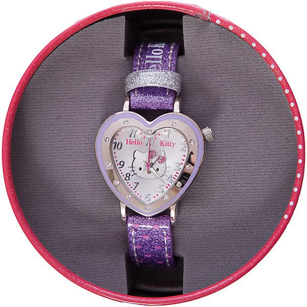 Часы наручные аналоговые, Hello KittyHello Kitty<br>Эксклюзивные наручные аналоговые часы торговой марки Hello Kitty выполнены по индивидуальному дизайну ООО «Детское Время» и лицензии компании Sanrio. Обилие деталей - декоративных элементов (страз, мерцающих ремешков), надписей,  уникальных изображений - делают изделие тщательно продуманным творением мастеров. Часы имеют высококачественный японский кварцевый механизм и отличаются надежностью и точностью хода. Часы водоустойчивы и обладают достаточной герметичностью, чтобы спокойно перенести случайный и незначительный контакт с жидкостями (дождь, брызги), но они не предназначены для плавания или погружения в воду. Циферблат защищен от повреждений прочным минеральным стеклом. Корпус часов выполнен из стали,  задняя крышка из нержавеющей стали. Материал браслета: искусственная кожа. Единица товара упаковывается в стильную подарочную коробочку. Неповторимый стиль с изобилием насыщенных и в тоже время нежных гамм; надежность и прочность изделия позволяют говорить о нем только в превосходной степени!<br>Ширина мм: 55; Глубина мм: 10; Высота мм: 250; Вес г: 27; Возраст от месяцев: 36; Возраст до месяцев: 72; Пол: Женский; Возраст: Детский; SKU: 5529332;