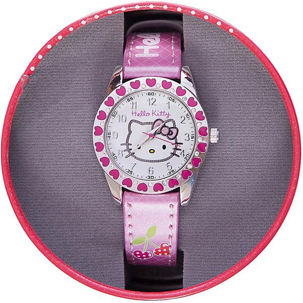 Часы наручные аналоговые, Hello KittyТрансформеры-игрушки<br>Эксклюзивные наручные аналоговые часы торговой марки Hello Kitty выполнены по индивидуальному дизайну ООО «Детское Время» и лицензии компании Sanrio. Обилие деталей - декоративных элементов (страз, мерцающих ремешков), надписей,  уникальных изображений - делают изделие тщательно продуманным творением мастеров. Часы имеют высококачественный японский кварцевый механизм и отличаются надежностью и точностью хода. Часы водоустойчивы и обладают достаточной герметичностью, чтобы спокойно перенести случайный и незначительный контакт с жидкостями (дождь, брызги), но они не предназначены для плавания или погружения в воду. Циферблат защищен от повреждений прочным минеральным стеклом. Корпус часов выполнен из стали,  задняя крышка из нержавеющей стали. Материал браслета: искусственная кожа. Единица товара упаковывается в стильную подарочную коробочку. Неповторимый стиль с изобилием насыщенных и в тоже время нежных гамм; надежность и прочность изделия позволяют говорить о нем только в превосходной степени!<br><br>Ширина мм: 55<br>Глубина мм: 10<br>Высота мм: 250<br>Вес г: 30<br>Возраст от месяцев: 36<br>Возраст до месяцев: 72<br>Пол: Женский<br>Возраст: Детский<br>SKU: 5529334