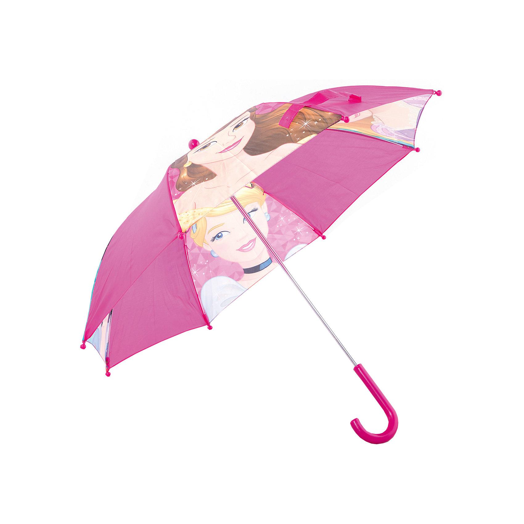 Зонт-трость 37,5 см., Disney PrincessЗонты детские<br>Компактный детский зонтик-трость станет замечательным подарком для Вашего чада и защитит его не только от дождя, но и от солнца. Красочный дизайн зонтика поднимет настроение и станет незаменимым атрибутом прогулки. Ребенок сможет сам открывать и закрывать зонтик, благодаря легкому механизму, а оригинальная расцветка зонтика привлечет к себе внимание. Тип механизма: механический (открывается/закрывается вручную). Конструкция зонта: зонт-трость. Материал: пластик, полиэстер, металл.<br>Диаметр купола: 68 см<br><br>Ширина мм: 75<br>Глубина мм: 60<br>Высота мм: 550<br>Вес г: 211<br>Возраст от месяцев: 36<br>Возраст до месяцев: 36<br>Пол: Женский<br>Возраст: Детский<br>SKU: 5529355