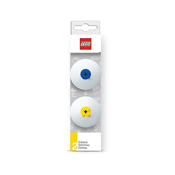 Набор ластиков, 2 шт.,  LEGOLEGO Товары для фанатов<br>Ластик подходит для стирания графитовых рисунков и надписей, не оставляет разводов, не царапает поверхность.<br><br>Ширина мм: 49<br>Глубина мм: 20<br>Высота мм: 180<br>Вес г: 54<br>Возраст от месяцев: 36<br>Возраст до месяцев: 72<br>Пол: Унисекс<br>Возраст: Детский<br>SKU: 5529371
