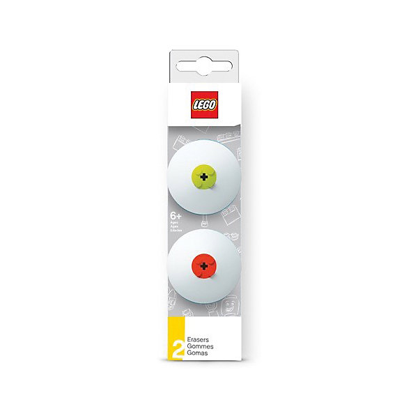 Набор ластиков, 2 шт.,  LEGOЧертежные принадлежности<br>Ластик подходит для стирания графитовых рисунков и надписей, не оставляет разводов, не царапает поверхность.<br><br>Ширина мм: 49<br>Глубина мм: 20<br>Высота мм: 180<br>Вес г: 54<br>Возраст от месяцев: 36<br>Возраст до месяцев: 72<br>Пол: Унисекс<br>Возраст: Детский<br>SKU: 5529372