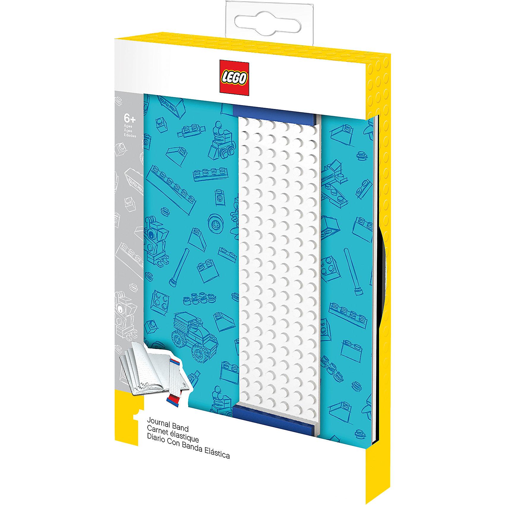 Записная книжка, 96 листов, линейка, с закладкой, цвет: голубой, LEGOБумажная продукция<br>Оригинальную книгу для записей можно использовать в качестве ежедневника, блокнота для рисования, написания сочинений или важных событий. Закладка поможет не только найти необходимую запись, а также хранить ручку, маркер или карандаш вместе, ведь все канцелярские принадлежности скрепляются друг  с другом по принципу конструкторов LEGO.<br><br>Ширина мм: 223<br>Глубина мм: 154<br>Высота мм: 35<br>Вес г: 399<br>Возраст от месяцев: 72<br>Возраст до месяцев: 144<br>Пол: Унисекс<br>Возраст: Детский<br>SKU: 5529375