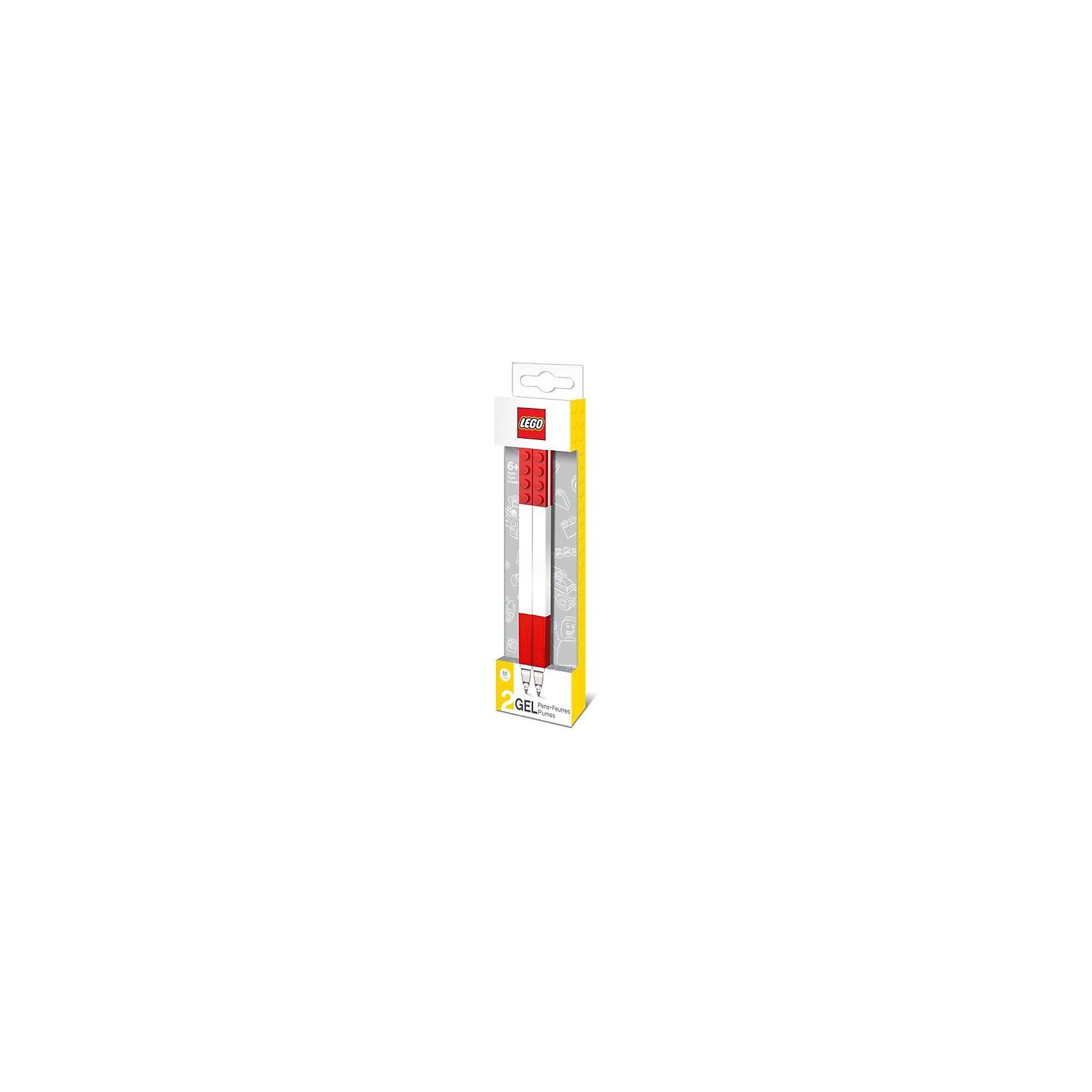 Набор гелевых ручек, 2 шт., LEGOНабор гелевых ручек из уникальной коллекции канцелярских принадлежностей LEGO состоит из 2-х ручек с чернилами красного цвета. Ручка имеет пластиковый корпус с резиновой манжеткой, которая снижает напряжение руки. Ручка обеспечивает легкое и мягкое письмо, чернила быстро высыхают, не размазываются.<br><br>Ширина мм: 49<br>Глубина мм: 20<br>Высота мм: 180<br>Вес г: 31<br>Возраст от месяцев: 36<br>Возраст до месяцев: 72<br>Пол: Унисекс<br>Возраст: Детский<br>SKU: 5529378