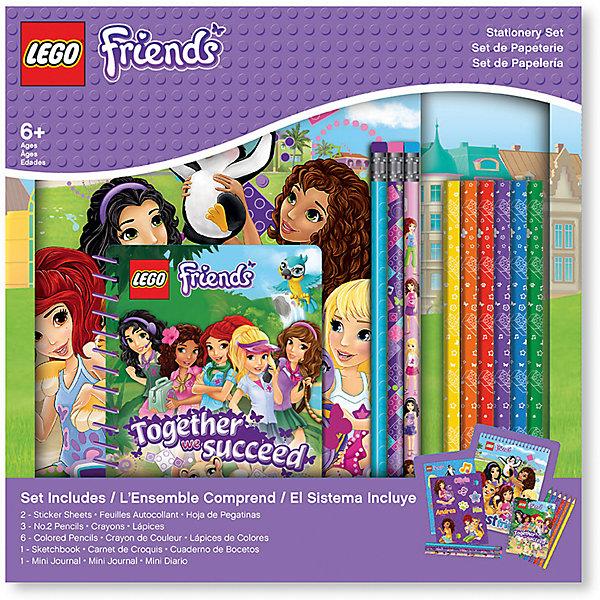 Набор канцелярских принадлежностей, 13 шт. в комплекте, LEGOШкольные аксессуары<br>Альбом для рисования на спирали (1 шт.) 60 листов, 17,8х0,5х22,8 см<br>Наклейки (2 листа) 12,7х17,7 см<br>Карандаши (3 шт.)<br>Цветные карандаши (6 шт.)<br>Блокнот на спирали (1 шт.) 100 листов,10х1х13,9 см<br>Ширина мм: 277; Глубина мм: 40; Высота мм: 277; Вес г: 600; Возраст от месяцев: 36; Возраст до месяцев: 72; Пол: Женский; Возраст: Детский; SKU: 5529381;