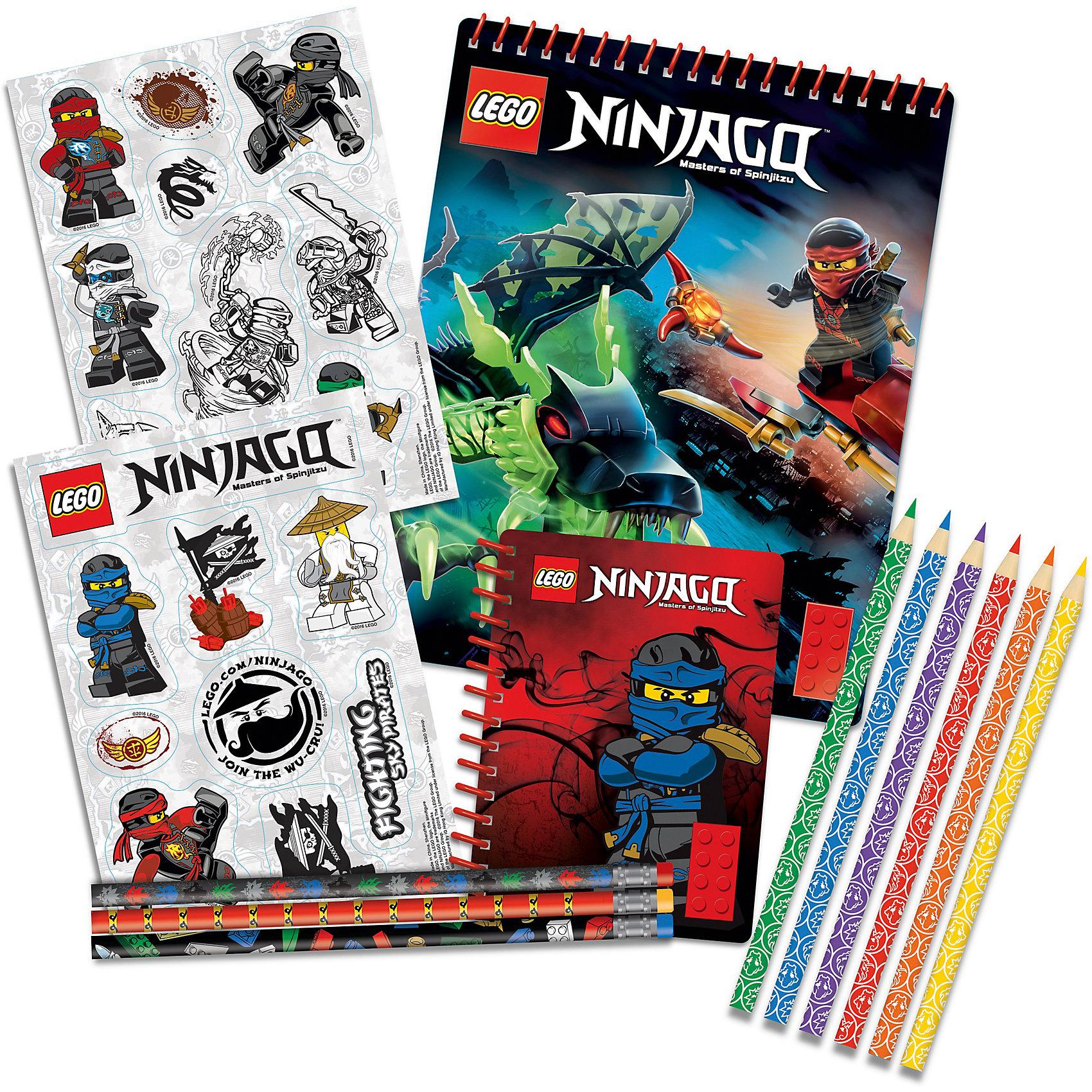 Набор канцелярских принадлежностей, 13 шт. в комплекте, LEGOАльбом для рисования на спирали (1 шт.) 60 листов, 17,8х0,5х22,8 см<br>Наклейки (2 листа) 12,7х17,7 см<br>Карандаши (3 шт.)<br>Цветные карандаши (6 шт.)<br>Блокнот на спирали (1 шт.) 100 листов,10х1х13,9 см<br><br>Ширина мм: 277<br>Глубина мм: 40<br>Высота мм: 277<br>Вес г: 600<br>Возраст от месяцев: 36<br>Возраст до месяцев: 72<br>Пол: Мужской<br>Возраст: Детский<br>SKU: 5529388