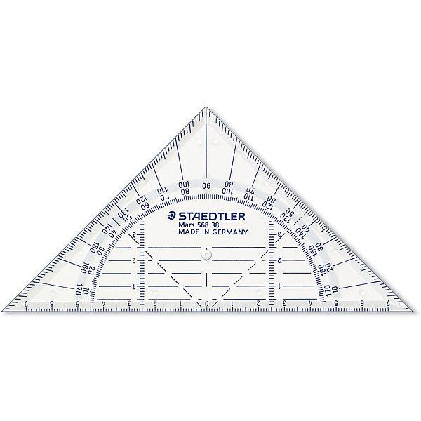 Геометрический треугольник Mars  16 см, StaedtlerЧертежные принадлежности<br>Геометрический треугольник Mars  16 см, Staedtler (Штедлер).<br><br>Характеристики:<br><br>• Для детей в возрасте: от 7 лет<br>• Материал: пластик<br>• Длина шкалы: 16 см.<br>• Градусы: 45°/45°<br><br>Прозрачный геометрический треугольник Mars от Staedtler (Штедлер) - это высококачественный инструмент для школьных занятий, измерений и выполнения чертежей. Четкая нестираемая разметка делает работу с инструментом особенно удобной. Треугольник обладает особой прочностью, защищающей его от поломки в сумке или при падении.<br><br>Геометрический треугольник Mars  16 см, Staedtler (Штедлер) можно купить в нашем интернет-магазине.<br>Ширина мм: 195; Глубина мм: 120; Высота мм: 30; Вес г: 13; Возраст от месяцев: 84; Возраст до месяцев: 2147483647; Пол: Унисекс; Возраст: Детский; SKU: 5529973;