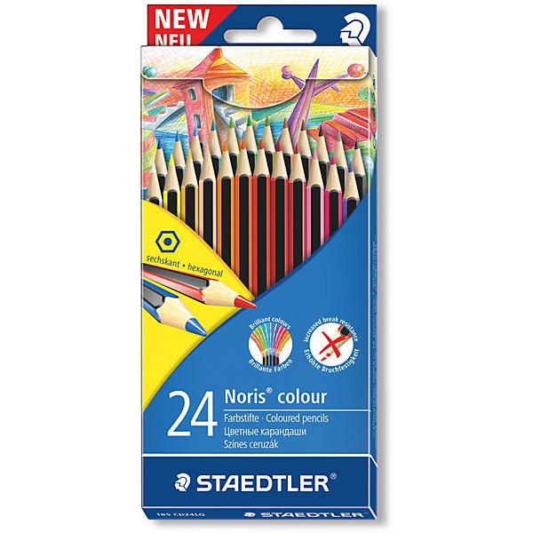 Карандаш цветной Noris Colour, набор 24 цвета, WopexЦветные<br>Карандаш цветной Noris Colour, набор 24 цвета, Wopex.<br><br>Характеристики:<br><br>• Для детей в возрасте: от 3 лет<br>• В наборе: 24 цветных карандаша<br>• Количество цветов: 24<br>• Материал корпуса: древесина, пластиковый композит<br>• Упаковка: картонная коробка с европодвесом<br>• Карандаши уложены в 2 ряда<br>• Размер упаковки: 185x85x15 мм.<br>• Вес: 218 гр.<br><br>Цветные карандаши Noris Color, непременно, понравятся вашему юному художнику. Корпус карандашей изготовлен из природного волокнистого материала Wopex: 70% древесины + пластиковый композит. Инновационный, однородный материал Wopex обеспечивает исключительно гладкую и ровную заточку с любым качеством точилки. Карандаши имеют нескользящую, бархатистую поверхность, особенно ударопрочный корпус и грифель. С цветными карандашами Noris Color высокое качество письма, рисования, эскизов гарантировано! Текст и рисунки легко стереть.<br><br>Карандаш цветной Noris Colour, набор 24 цвета, Wopex можно купить в нашем интернет-магазине.<br>Ширина мм: 196; Глубина мм: 90; Высота мм: 170; Вес г: 214; Возраст от месяцев: 36; Возраст до месяцев: 2147483647; Пол: Унисекс; Возраст: Детский; SKU: 5529978;
