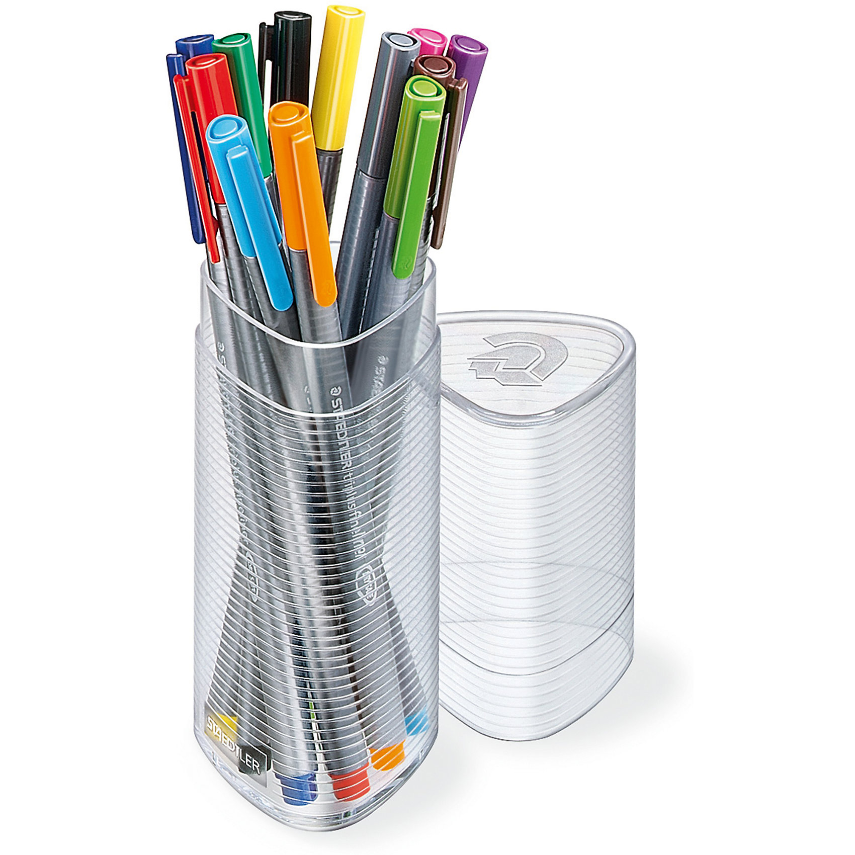 Набор капиллярных ручек Triplus, 12 цветов, в треугольном пенале, StaedtlerПисьменные принадлежности<br>Набор капиллярных ручек Triplus, 12 цветов, в треугольном пенале, Staedtler (Штедлер).<br><br>Характеристики:<br><br>• Для детей в возрасте: от 5 лет<br>• В наборе: 12 разноцветных ручек<br>• Яркие цвета<br>• Цвет чернил соответствует цвету колпачка и заглушки<br>• Чернила на водной основе<br>• Отстирывается с большинства тканей<br>• Материал корпуса: полипропилен<br>• Толщина линии: 0,3 мм.<br>• Упаковка: треугольный пластиковый пенал<br>• Размер упаковки: 163х54х54 мм.<br>• Вес: 160 гр.<br><br>Набор трехгранных капиллярных ручек Triplus ® fineliner в треугольном пластиковом пенале идеально подходит как для письма и работы с документами, так и для творчества. Эргономичная форма обеспечивает комфортное письмо без усилий и усталости. Супертонкий и особо прочный металлический наконечник гарантирует мягкое и плавное письмо. Уникальная система позволяет оставлять ручку без колпачка на несколько дней без угрозы высыхания (тест ISO). Корпус из полипропилена и большой запас чернил гарантирует долгий срок службы.<br><br>Набор капиллярных ручек Triplus, 12 цветов, в треугольном пенале, Staedtler (Штедлер) можно купить в нашем интернет-магазине.<br><br>Ширина мм: 55<br>Глубина мм: 53<br>Высота мм: 169<br>Вес г: 165<br>Возраст от месяцев: 60<br>Возраст до месяцев: 2147483647<br>Пол: Унисекс<br>Возраст: Детский<br>SKU: 5529996