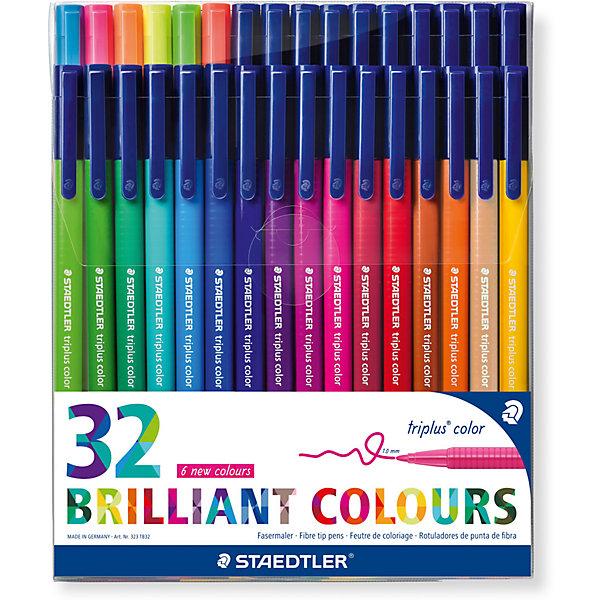 Набор фломастеров Triplus Сolor, 32 цвета, трехгранные,  яркие цветаФломастеры<br>Набор фломастеров Triplus Сolor, 32 цвета, трехгранные,  яркие цвета.<br><br>Характеристики:<br><br>• Для детей в возрасте: от 3 лет<br>• В наборе: 32 разноцветных фломастера ярких цветов<br>• Материал корпуса: полипропилен<br>• Толщина линии: приблизительно 1 мм.<br>• Упаковка: пластиковый футляр<br>• Размер упаковки: 183х155х24 мм.<br>• Вес: 284 гр.<br><br>Набор фломастеров Triplus Color - это 32 ярких фломастера разных цветов с эргономичным трехгранным корпусом для легкого и удобного письма и рисования. Фломастеры имеют прочный, устойчивый к нажиму пишущий узел, вентилируемый колпачок, чернила на водной основе. Отстирываются с большинства поверхностей. Фломастеры без колпачка, в открытом состоянии не высыхают несколько дней (тест ISO 554). Корпус и колпачок из полипропилена гарантируют долгий срок службы. Упаковка в удобный пластиковый футляр.<br><br>Набор фломастеров Triplus Сolor, 32 цвета, трехгранные,  яркие цвета можно купить в нашем интернет-магазине.<br>Ширина мм: 183; Глубина мм: 154; Высота мм: 260; Вес г: 282; Возраст от месяцев: 36; Возраст до месяцев: 2147483647; Пол: Унисекс; Возраст: Детский; SKU: 5530005;