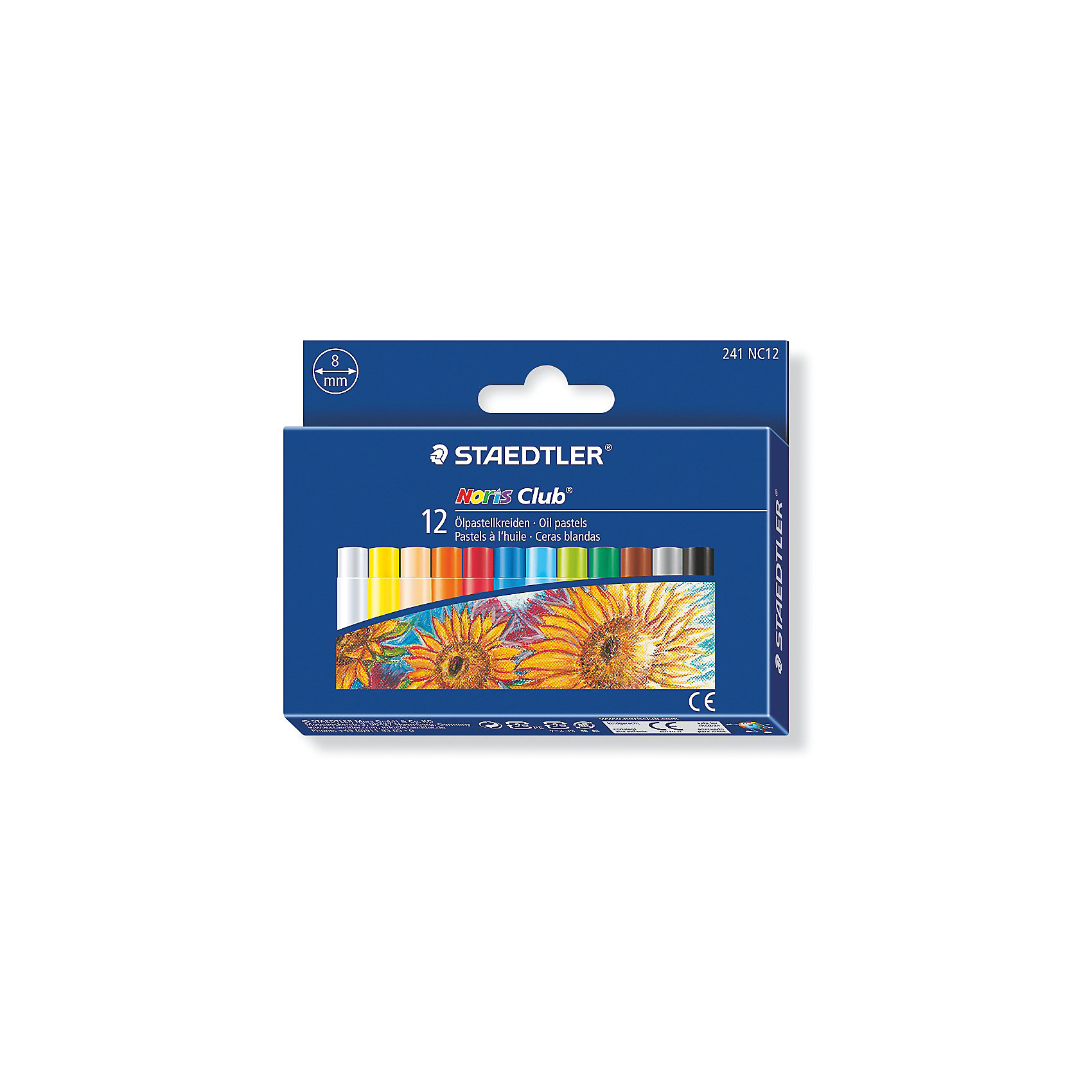 Пастель масляная Noris Club Jumbo, 12 цветовНабор пастели масляной Noris Club® 241 серии. Диаметр 8 мм. Подходит для рисования, перекрытия цвета и техники процарапывания. Держится на всех гладких поверхностях. Высокая устойчивость к поломке. Бумажная манжетка с полем для имени. 12 ярких цветов в картонной упаковке.<br><br>Ширина мм: 130<br>Глубина мм: 100<br>Высота мм: 170<br>Вес г: 85<br>Возраст от месяцев: 60<br>Возраст до месяцев: 2147483647<br>Пол: Унисекс<br>Возраст: Детский<br>SKU: 5530007