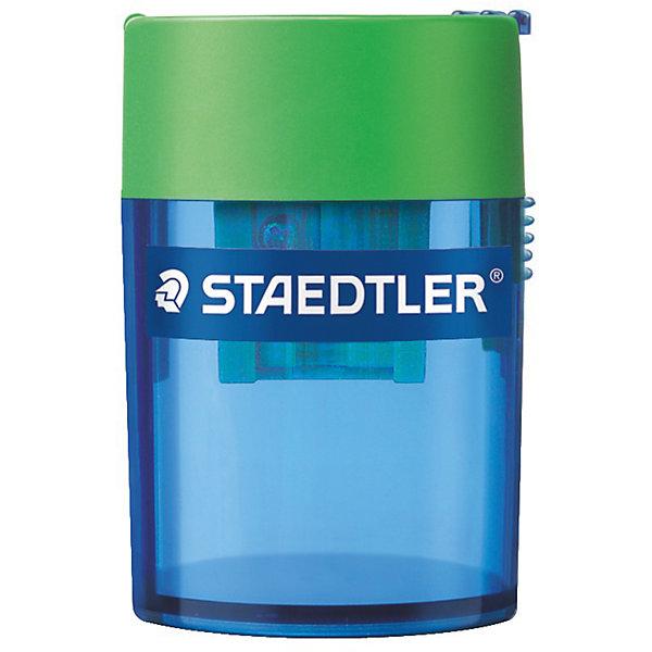 Точилка Tradition, ассорти, StaedtlerПисьменные принадлежности<br>Точилка Tradition, ассорти, Staedtler (Штедлер).<br><br>Характеристики:<br><br>• Для детей в возрасте: от 5 лет<br>• В наборе: 1 точилка с 1 отверстием<br>• Материал корпуса: пластик<br>• Размер упаковки: 56х36х41 мм.<br>• ВНИМАНИЕ! Данный артикул представлен в различном цветовом исполнении. К сожалению, заранее выбрать определенный вариант невозможно. При заказе нескольких точилок возможно получение одинаковых<br><br>Точилка с контейнером предназначена для стандартных чернографитовых карандашей диаметром до 8 мм с углом заточки 23° для получения четких и аккуратных линий. Точилка имеет металлическую затачивающую часть, безопасный крепеж крышки.Закрытая конструкция предотвращает высыпание мусора во время заточки.<br> <br>Точилку Tradition, ассорти, Staedtler (Штедлер) можно купить в нашем интернет-магазине.<br>Ширина мм: 40; Глубина мм: 40; Высота мм: 57; Вес г: 35; Возраст от месяцев: 60; Возраст до месяцев: 2147483647; Пол: Унисекс; Возраст: Детский; SKU: 5530008;