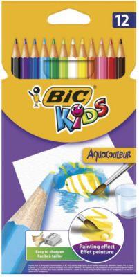 BIC Карандаши цветные акварельные Bic Aquacouleur, 12 цветов