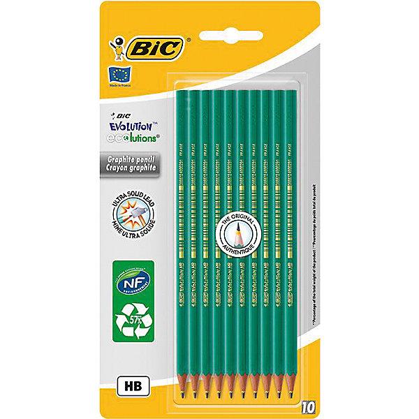 Набор карандашей черно-графитные BIC Evolution, 10 шт.Чернографитные<br>Набор карандашей черно-графитные BIC Evolution, 10 шт.<br><br>Характеристики:<br><br>• В наборе: 10 чернографитовых карандашей<br>• Диаметр грифеля: 2 мм.<br>• Твердость: НВ<br>• Материал корпуса: пластик<br>• Цвет корпуса: зеленый<br>• Размер упаковки: 24х13х1 см.<br><br>Чернографитные карандаши Evolution – это абсолютный хит продаж среди чернографитовых карандашей! Карандаши полностью выполнены из пластика, обладают высокой степенью устойчивости к излому, ударопрочным грифелем. Не расщепляются при механическом воздействии (безопасны для тех, кто любит грызть карандаши), не образуют острых краев на изломе.<br><br>Набор карандашей черно-графитные BIC Evolution, 10 шт. можно купить в нашем интернет-магазине.<br>Ширина мм: 90; Глубина мм: 127; Высота мм: 240; Вес г: 63; Возраст от месяцев: 60; Возраст до месяцев: 2147483647; Пол: Унисекс; Возраст: Детский; SKU: 5530016;