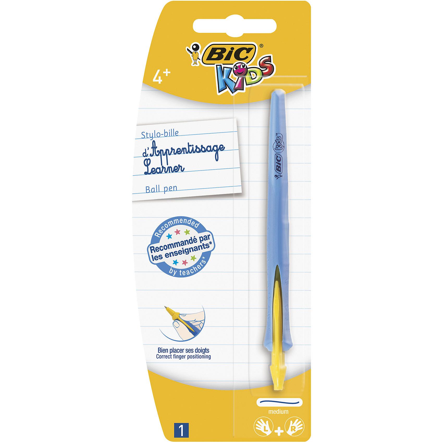 Ручка шариковая для детей Bic Kids Click, цвет: синийПисьменные принадлежности<br>Ручка шариковая для детей Bic Kids Click, цвет: синий.<br><br>Характеристики:<br><br>• Для детей в возрасте: от 4 лет<br>• Цвет чернил: синий<br>• Средняя толщина линии: 0,4 мм.<br>• Материал корпуса: пластик<br>• Цвет корпуса: синий<br><br>Шариковая ручка Bic Kids Click разработана специально для детей, обучающихся письму. Ручка подходит левшам и правшам. Яркий выпуклый край поможет правильно расположить ручку в руке. Чернила технологии Easy Glide гарантируют более мягкое письмо. В ручке сменяемый стержень, выдвигающийся с помощью поворота корпуса.<br><br>Ручку шариковую для детей Bic Kids Click, цвет: синий можно купить в нашем интернет-магазине.<br><br>Ширина мм: 17<br>Глубина мм: 80<br>Высота мм: 197<br>Вес г: 17<br>Возраст от месяцев: 48<br>Возраст до месяцев: 120<br>Пол: Унисекс<br>Возраст: Детский<br>SKU: 5530022