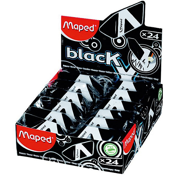 Ластик BLACK PYRAMIDE, MAPEDЧертежные принадлежности<br>Ластик BLACK PYRAMIDE, MAPED (МАПЕД).<br><br>Характеристики:<br><br>• Для детей в возрасте: от 3 лет<br>• В наборе: 1 ластик<br>• Цвет: черный<br>• Размеры: 45х20х23 мм.<br>• Индивидуальный пластиковый держатель<br>• Материал: каучук<br>• Не содержит ПВХ и фталатов<br><br>Стильный ластик черного цвета трехгранной формы легко и без следов удаляет с бумаги надписи, сделанные карандашом любой твердости, без повреждения поверхности бумаги и без образования бумажной пыли. Не оставляет следов на бумаге. Безопасен для детей и людей с аллергией.<br><br>Ластик BLACK PYRAMIDE, MAPED (МАПЕД) можно купить в нашем интернет-магазине.<br><br>Ширина мм: 56<br>Глубина мм: 21<br>Высота мм: 184<br>Вес г: 19<br>Возраст от месяцев: 36<br>Возраст до месяцев: 2147483647<br>Пол: Унисекс<br>Возраст: Детский<br>SKU: 5530029