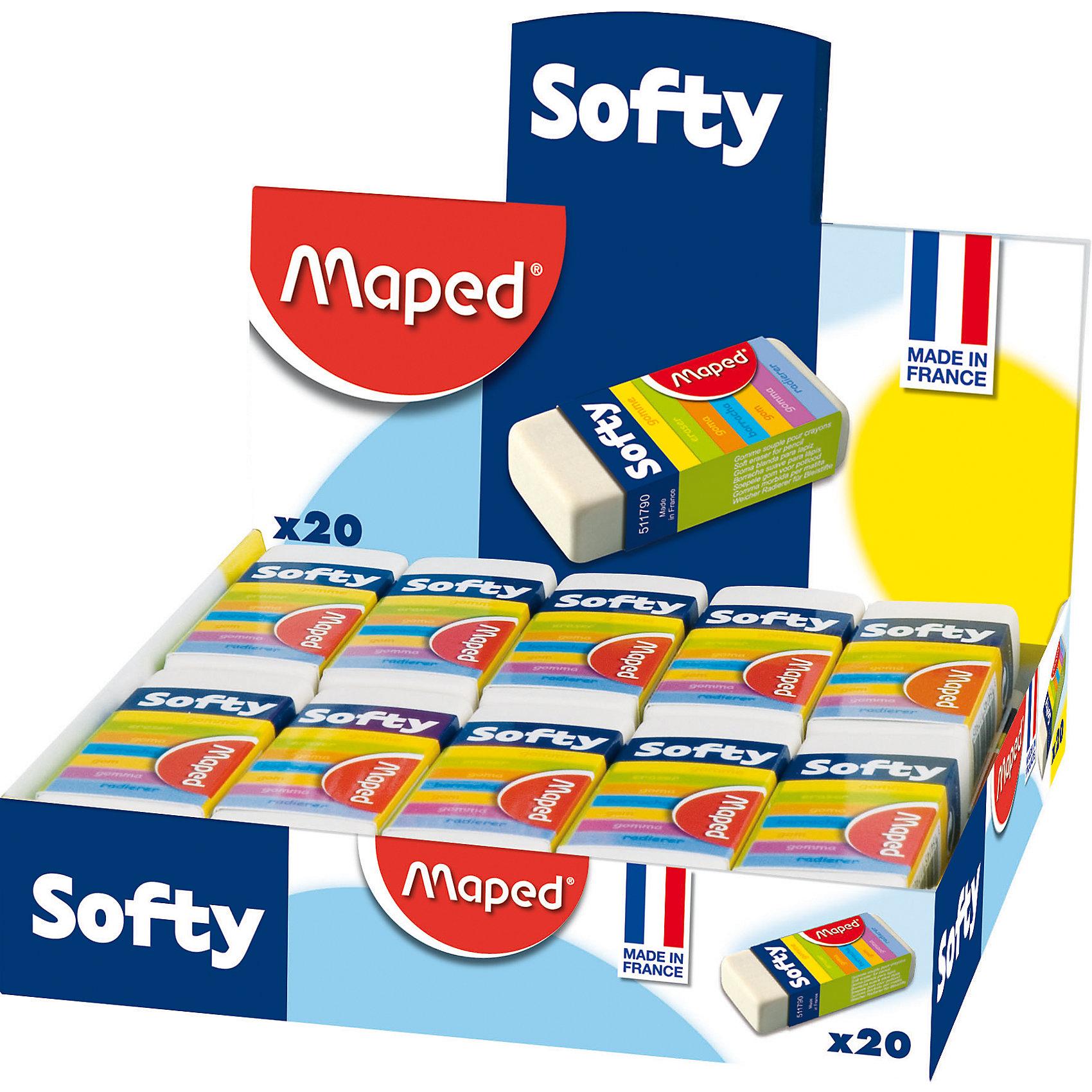 Ластик SOFTY мягкий, в футляре, MAPEDЧертежные принадлежности<br>Ластик SOFTY мягкий, в футляре, MAPED (МАПЕД).<br><br>Характеристики:<br><br>• Для детей в возрасте: от 3 лет<br>• В наборе: 1 ластик<br>• Цвет: белый<br>• Размер упаковки: 23х55х12 мм.<br><br>Ластик SOFTYот  MAPED (МАПЕД) в картонном футляре незаменим для использования дома, в школе и офисе. Мягкая структура ластика обеспечивает комфортное стирание.<br><br>Ластик SOFTY мягкий, в футляре, MAPED (МАПЕД) можно купить в нашем интернет-магазине.<br><br>Ширина мм: 56<br>Глубина мм: 23<br>Высота мм: 126<br>Вес г: 28<br>Возраст от месяцев: 36<br>Возраст до месяцев: 2147483647<br>Пол: Унисекс<br>Возраст: Детский<br>SKU: 5530032