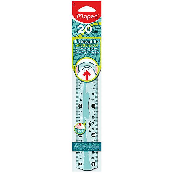 Линейка FLEX, 20 см, MAPEDЧертежные принадлежности<br>Линейка FLEX, 20 см, MAPED (МАПЕД).<br><br>Характеристики:<br><br>• Для детей в возрасте: от 6 лет<br>• Длина линейки: 20 см.<br>• Материал: пластик<br><br>Линейка FLEX с резиновыми вставками и держателем, эргономичной формы подходит для детской руки. Линейка ударопрочная. Не ломается при скручивании, сгибании и ударах. Резиновая вставка не скользит. Высококачественная градуировка (УФ чернила) с обеих сторон. Безопасные закруглённые углы. Шкала линейки легкочитаемая, предусмотрено наглядное указание отметки «0» и наглядные индикаторы каждые 5 см.<br><br>Линейку FLEX, 20 см, MAPED (МАПЕД) можно купить в нашем интернет-магазине.<br><br>Ширина мм: 302<br>Глубина мм: 52<br>Высота мм: 124<br>Вес г: 28<br>Возраст от месяцев: 72<br>Возраст до месяцев: 2147483647<br>Пол: Унисекс<br>Возраст: Детский<br>SKU: 5530034