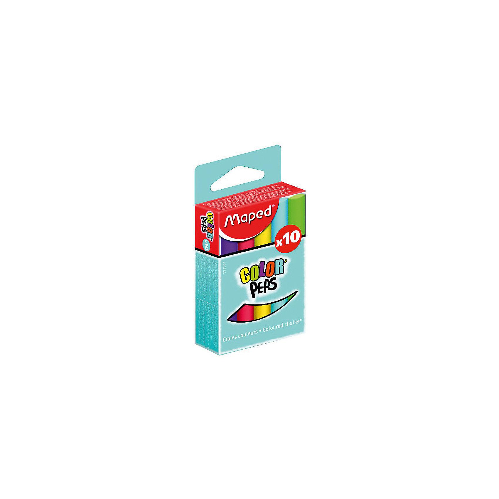 Мел COLOR`PEPS цветной, для детей, 10 цветов, MAPEDМелки для асфальта<br>Мел цветной серии Color Peps. Круглый и удобный для детской руки. Яркие и насыщенные цвета, специальная формула без грязи. В упаковке 10 цветов.<br><br>Ширина мм: 104<br>Глубина мм: 51<br>Высота мм: 22<br>Вес г: 107<br>Возраст от месяцев: 36<br>Возраст до месяцев: 2147483647<br>Пол: Унисекс<br>Возраст: Детский<br>SKU: 5530042