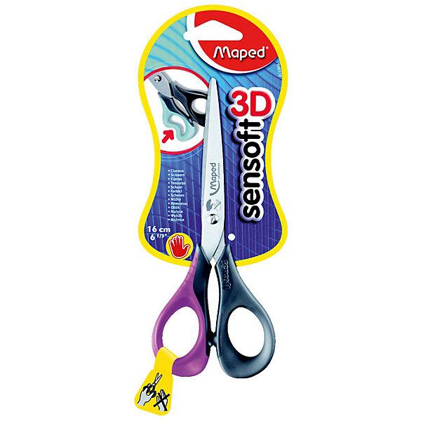 Ножницы SENSOFT  16см, MAPEDШкольные аксессуары<br>Ножницы SENSOFT  16см, MAPED (МАПЕД).<br><br>Характеристики:<br><br>• Для детей в возрасте: от 4 лет<br>• Материал: нержавеющая сталь, пластик, резина<br>• Длина ножниц: 16 см.<br><br>Ножницы Sensoft с безопасными закругленными концами разработаны специально для левшей. Лезвия ножниц выполнены из шлифованной нержавеющей стали. 3D эргономичные кольца из мягкого материала обеспечивают максимальный комфорт даже при длительной работе.<br><br>Ножницы SENSOFT  16см, MAPED (МАПЕД) можно купить в нашем интернет-магазине.<br><br>Ширина мм: 198<br>Глубина мм: 80<br>Высота мм: 11<br>Вес г: 51<br>Возраст от месяцев: 48<br>Возраст до месяцев: 2147483647<br>Пол: Унисекс<br>Возраст: Детский<br>SKU: 5530055