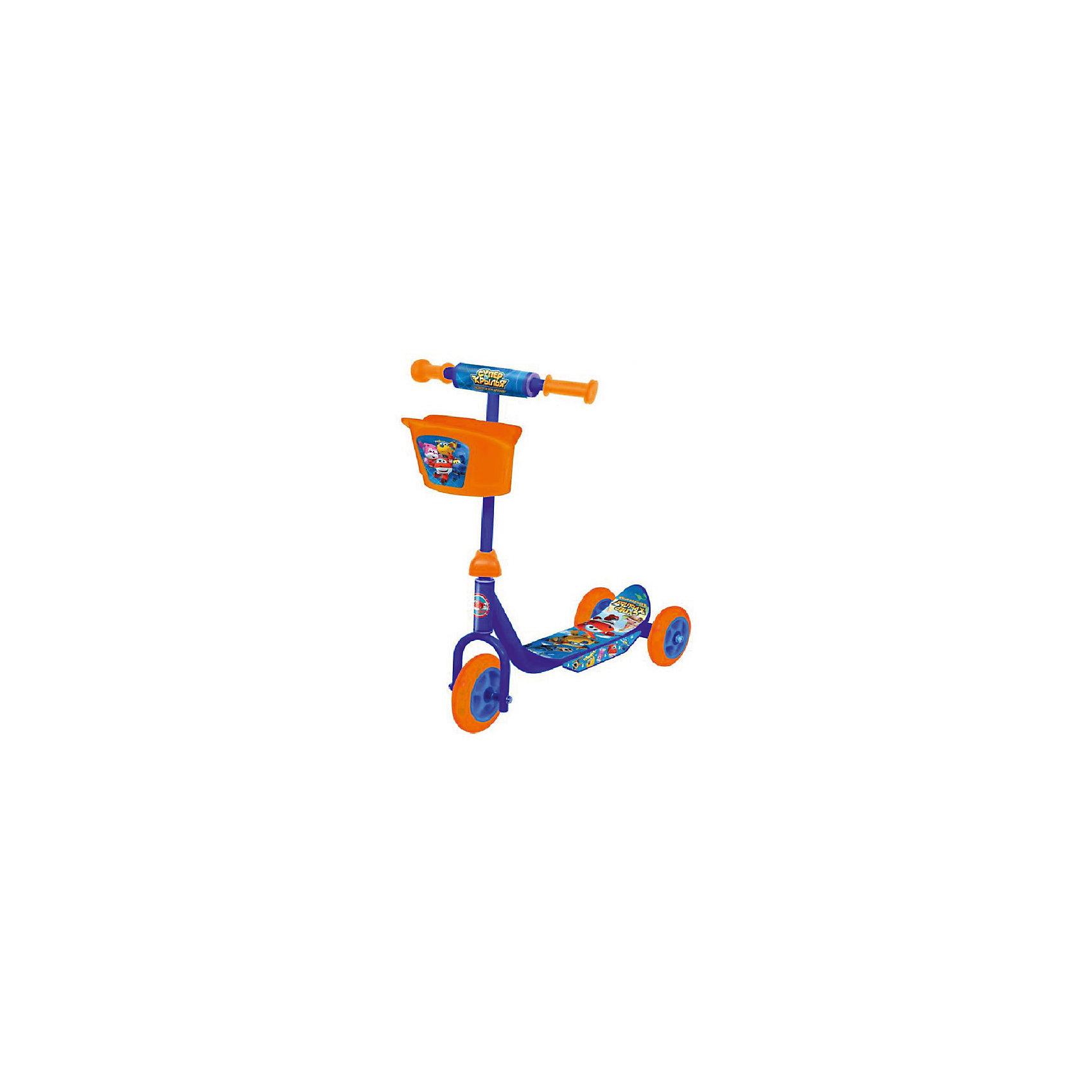 Трехколесный самокат, Супер Крылья, NextИгрушки<br>Самокат 3-колесный Супер крылья для самых маленьких- колеса пвх: переднее 140 мм, задние 125 мм,- платформа 34 х 10 см,- материал: пластик, сталь,- удобная пластиковая корзина,- устойчивая безопасная конструкция,- максимальная нагрузка - 20 кг<br><br>Ширина мм: 300<br>Глубина мм: 600<br>Высота мм: 600<br>Вес г: 3180<br>Возраст от месяцев: 36<br>Возраст до месяцев: 60<br>Пол: Унисекс<br>Возраст: Детский<br>SKU: 5530225