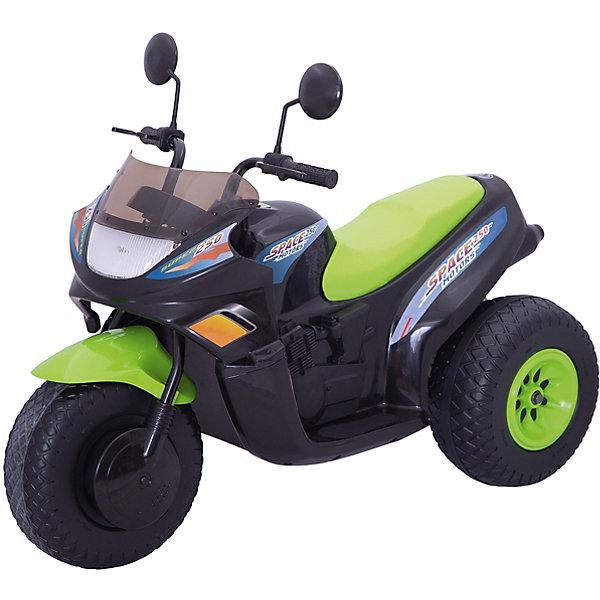 Мотоцикл CT на аккумуляторе, BugatiЭлектромобили<br>Мотоцикл на аккумуляторах ст-770 - 12v (2 аккумулятора 6v12ah) и два мотора - 2 скорости вперед + 1 скорость назад - габариты: 102х53х79 см (дхшхв) - светится фара - звуковые эффекты - скорость: 3-7 км/час - вес мотоцикла: 15 кг - резиновые накладки на колесах - боковые зеркала - максимальная нагрузка: 25 кг Цвет: зелено-черный.<br>Ширина мм: 740; Глубина мм: 550; Высота мм: 1020; Вес г: 17600; Возраст от месяцев: 60; Возраст до месяцев: 108; Пол: Унисекс; Возраст: Детский; SKU: 5530233;