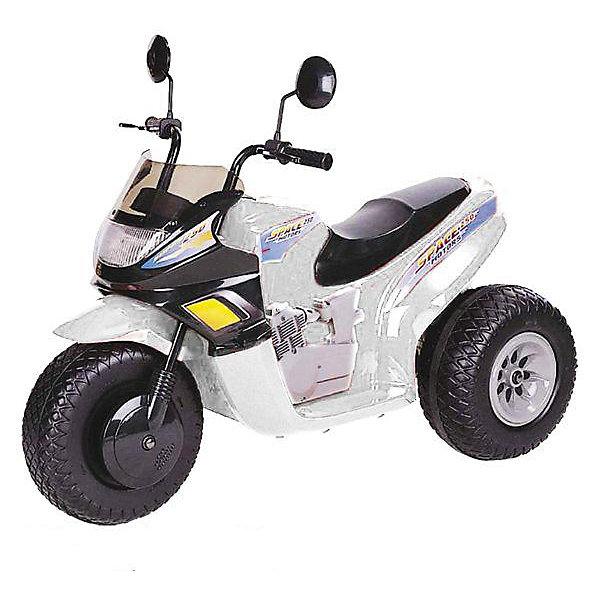 Мотоцикл СТ на аккумуляторе, BugatiЭлектромобили<br>Мотоцикл на аккумуляторах ст-770 - 12v (2 аккумулятора 6v12ah) и два мотора - 2 скорости вперед + 1 скорость назад - габариты: 102х53х79 см (дхшхв) - светится фара - звуковые эффекты - скорость: 3-7 км/час - вес мотоцикла: 15 кг - резиновые накладки на колесах - боковые зеркала - максимальная нагрузка: 25 кг Цвет: белый.<br><br>Ширина мм: 740<br>Глубина мм: 550<br>Высота мм: 1020<br>Вес г: 17600<br>Возраст от месяцев: 60<br>Возраст до месяцев: 108<br>Пол: Унисекс<br>Возраст: Детский<br>SKU: 5530234