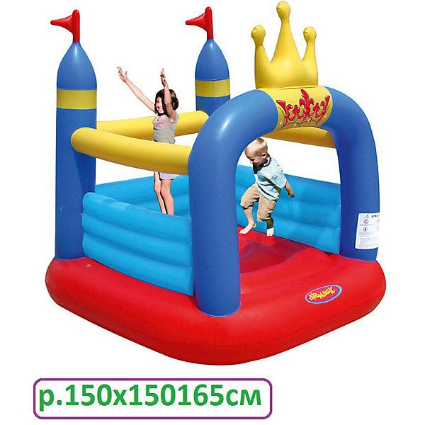 Корона, AirmagicИгровые центры<br>Характеристики:<br><br>• возраст ребенка: от 3 до 5 лет;<br>• рост ребенка: 90-150 см;<br>• количество играющих одновременно детей: 2;<br>• максимальная нагрузка: 50 кг.<br><br>Размеры:<br><br>• размер игрового комплекса: 150х150х165 см;<br>• размер упаковки: 46х38х18 см;<br>• вес в упаковке: 6 кг.<br><br>Дополнительная информация:<br><br>• материал: ламинированный ПВХ, ламинированная ткань Оксфорд;<br>• плотность: ПВХ 360 г/м2, ткани Оксфорд 215 г/м2;<br>• материал застежек: лавсан;<br>• крепеж к земле: пластик;<br>• технология изготовления продукции: машинное сшивание путем соединения тканей ПВХ и Оксфорд.<br><br>Меры предосторожности:<br><br>• использование: установка на открытом воздухе;<br>• только для бытового применения;<br>• при установке батута, изделие обязательно следует крепить пластиковыми кольями к земле.<br><br>Рекомендации от производителя: в течение всего времени использования продукции HAPPY HOP необходимо поддерживать подачу воздуха и обеспечивать непрерывную работу насоса. <br><br>Надувной батут Корона, Airmagic можно купить в нашем интернет-магазине.<br>Ширина мм: 460; Глубина мм: 380; Высота мм: 180; Вес г: 6000; Возраст от месяцев: 36; Возраст до месяцев: 60; Пол: Унисекс; Возраст: Детский; SKU: 5530700;