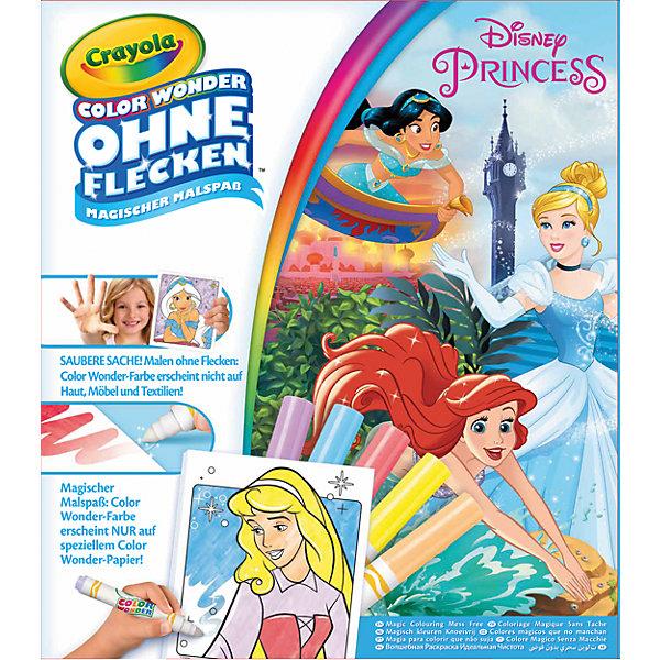 Раскраска Color Wonder ПринцессыРаскраски для детей<br>Раскраска с фломастерами Color Wonder, посвященная принцессам из известных диснеевских мультфильмов.  Ребенок сможет раскрасить Золушку, Жасмин, Русалочку и многих других популярных персонажей.<br>В комплекте раскраска из 18 страниц и 5 разноцветных фломастеров Color Wonder. <br>Упаковка набора полностью переведена на русский язык.<br>Ширина мм: 321; Глубина мм: 246; Высота мм: 32; Вес г: 241; Возраст от месяцев: 36; Возраст до месяцев: 72; Пол: Женский; Возраст: Детский; SKU: 5531628;