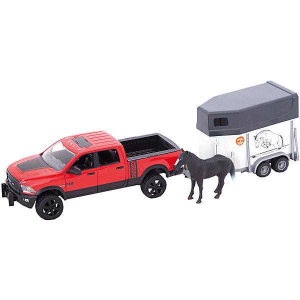 Пикап RAM 2500 c коневозкой и одной лошадкой, BruderМашинки<br><br>Ширина мм: 255; Глубина мм: 45; Высота мм: 90; Вес г: 1720; Возраст от месяцев: 36; Возраст до месяцев: 144; Пол: Мужской; Возраст: Детский; SKU: 5532616;