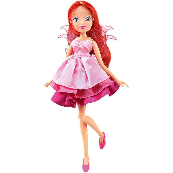 Кукла Блум Волшебное платье, Winx ClubИгрушки<br>Характеристики товара:<br><br>• возраст: от 3 лет;<br>• материал: пластик, текстиль;<br>• в комплекте: кукла, платье, 2 заколки;<br>• высота куклы: 27 см;<br>• размер упаковки: 35,5х21х6 см;<br>• вес упаковки: 304 гр.;<br>• страна производитель: Китай.<br><br>Кукла Блум «Волшебное платье» Winx Club создана по мотивам известного мультсериала «Клуб Винкс: Школа волшебниц» про очаровательных фей-волшебниц. Блум — главная героиня мультфильма, основательница Клуба Винкс. Блум любит смотреть комедии, читать книги о магии и общаться с друзьями.<br><br>У феи голубые выразительные глаза и мягкие огненно-рыжие волосы. Аксессуары для волос помогут девочке придумать для Блум оригинальный и яркий образ. Одета кукла в розовое платье с пышной юбкой, дополненное крылышками на спине. Платье одним движением превращается в длинное элегантное вечернее платье. У куклы несколько точек артикуляции. Руки сгибаются в локтях и плечах, ноги в бедрах и коленях. <br><br>Куклу Блум «Волшебное платье» Winx Club можно приобрести в нашем интернет-магазине.<br><br>Ширина мм: 60<br>Глубина мм: 355<br>Высота мм: 210<br>Вес г: 304<br>Возраст от месяцев: 36<br>Возраст до месяцев: 2147483647<br>Пол: Женский<br>Возраст: Детский<br>SKU: 5532625